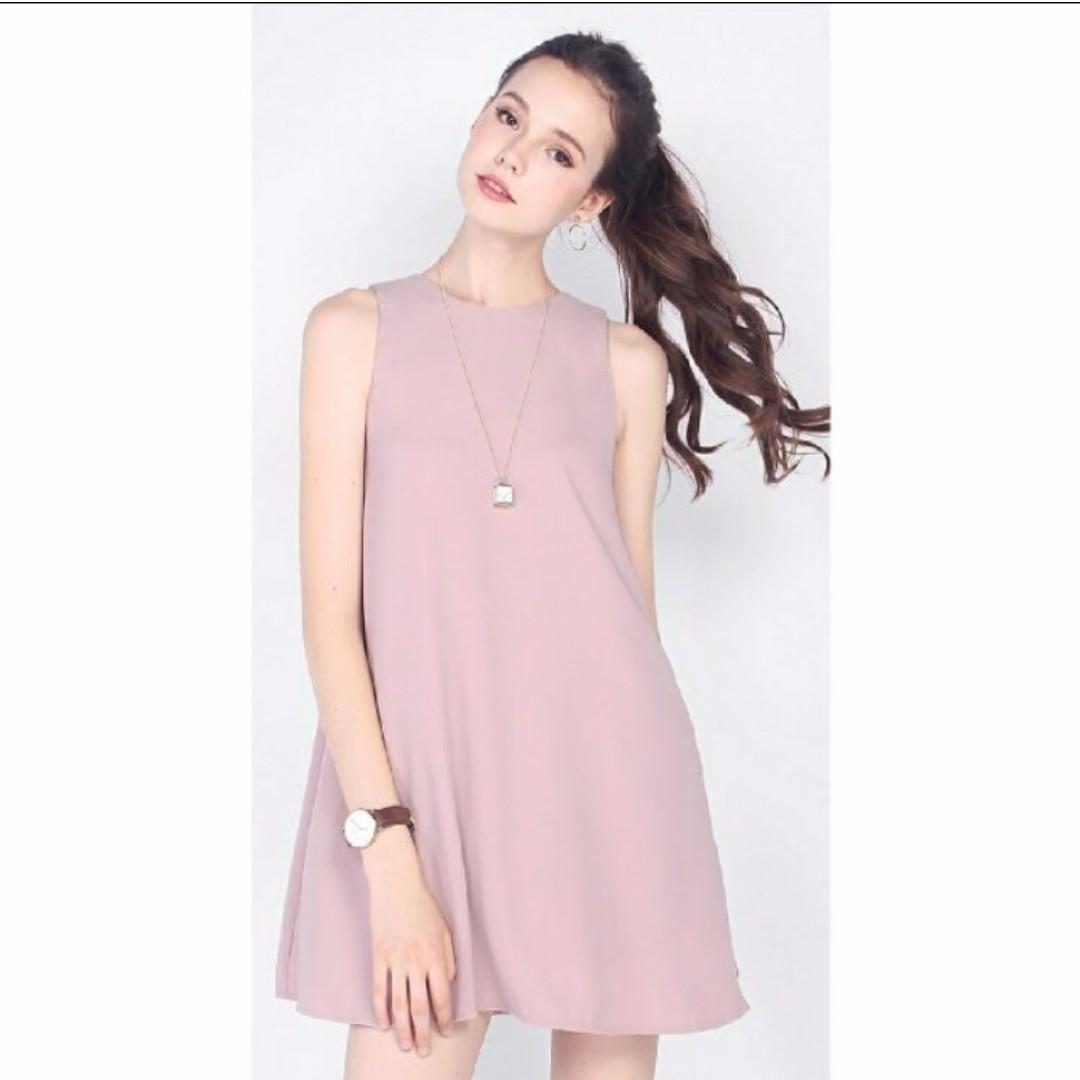 0d40aa8dd Fayth Hyde Pocket Shift Dress in Mauve (Size S), Women's Fashion ...