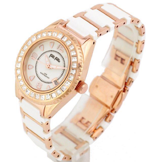 Folli Follie 白金配色鑽錶 腕錶