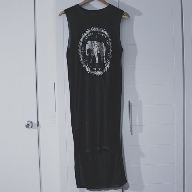 Forever21 Long Muscle Shirt