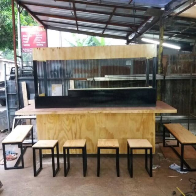 gerobak booth cafe bar murah