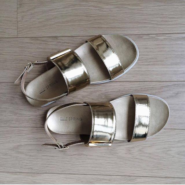 Gold SPRING sandals size 7.5