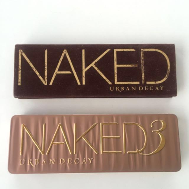 GUARANTEED AUTHENTIC Urban Decay Naked 1 Naked 3 Eyeshadow Palette Sephora