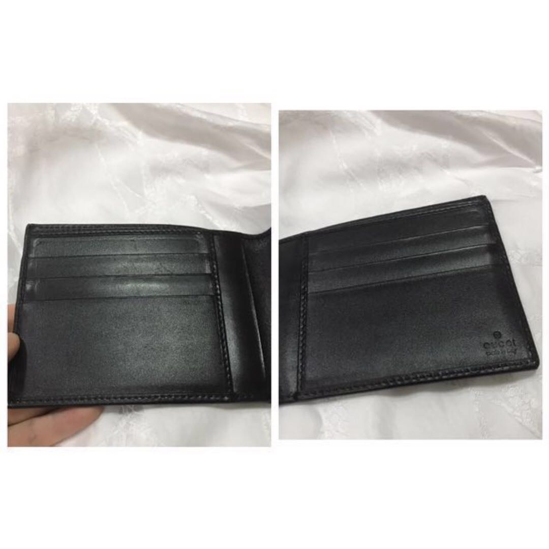 ed5128e790fe GUCCI like new! GG signature web wallet black leather green red web,  Luxury, Bags & Wallets on Carousell
