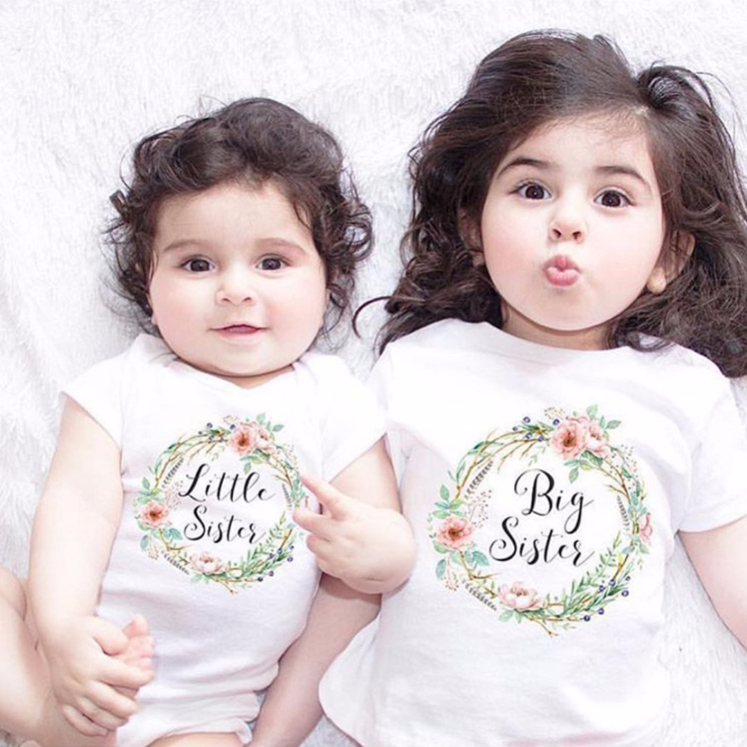 🌟instock🌟 sisters twinning tshirt top little and big sister tee