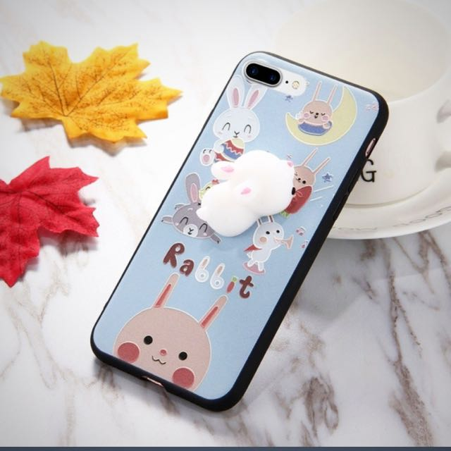 iPhone 7 3D squishy bunny case