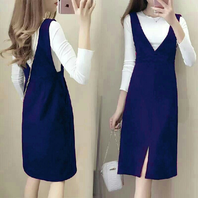 Jual Dress Pesta Rok Midi Dress Overall Jumsuit Jumpsuit Baju Kodok