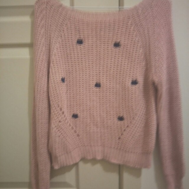 Kitty print knit jumper