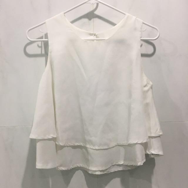 Layered Top White