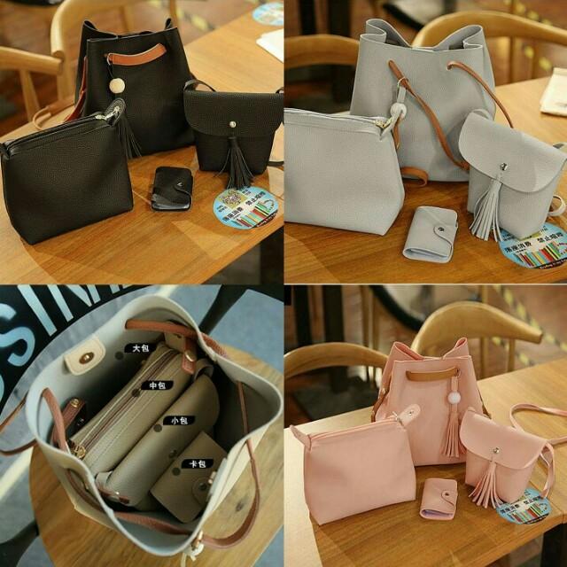 Leather 4in1 Shoulder Bag