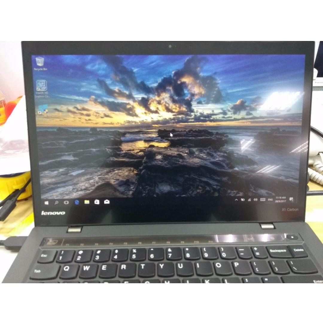 Lenovo ThinkPad X1 Carbon Laptop i7 TouchScreen Model - QHD