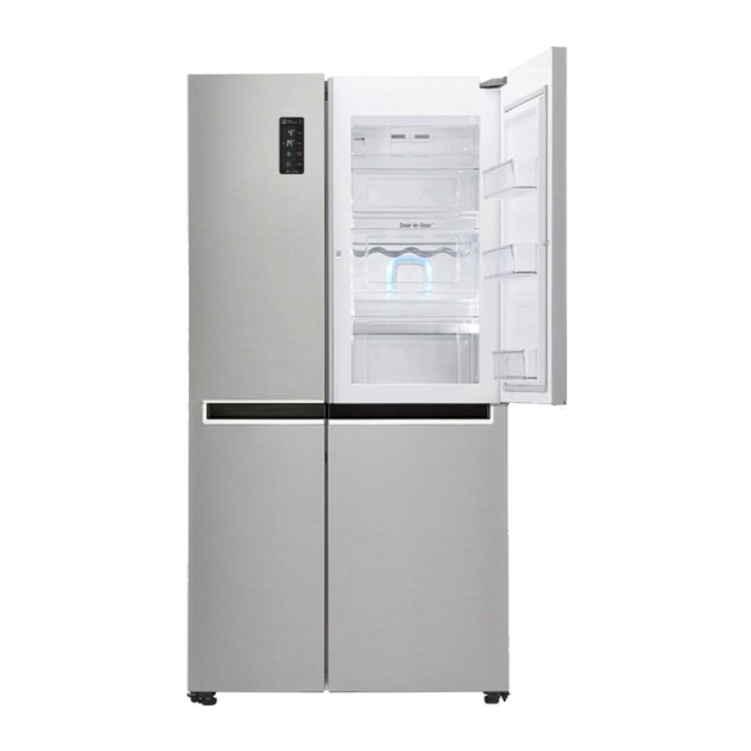 85a838c569b LG inverter side by side refrigerator DOOR IN DOOR 24 cu.ft SILVER model   GR-M247CLBV on Carousell