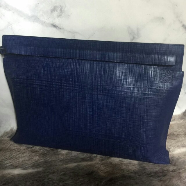 Loewe Blue System Signature T Oversized Clutch