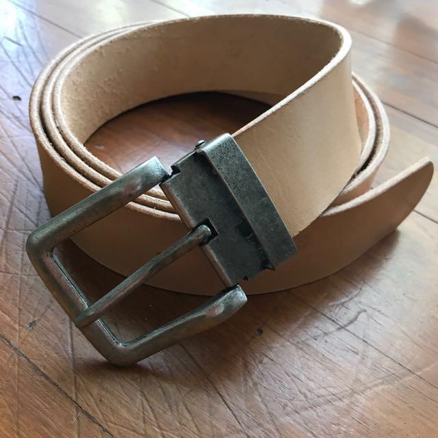 Natural Leather belt - FULL GRAIN