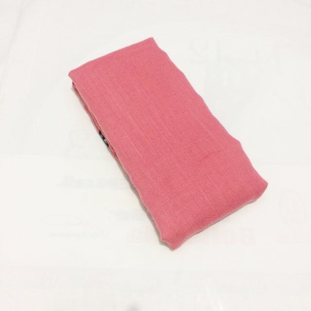 NEW - Kerudung / Hijab Segi Empat Polos Pink