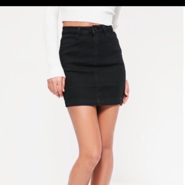 NEW misguided Denim Super stretch Mini Skirt
