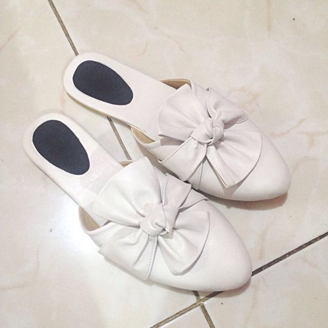 NEW White Mules