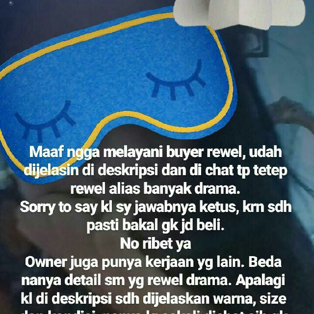No Drama Dan No Rewel Ya Sisss