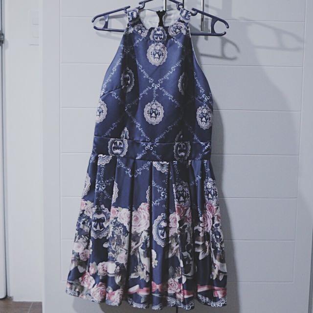 Patterned Silk Dress from Korea
