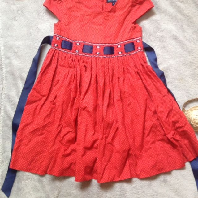 periwinkle red dress 2yrs old