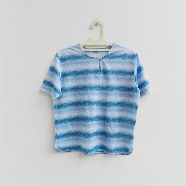 [PRELOVED] blue gradation tops