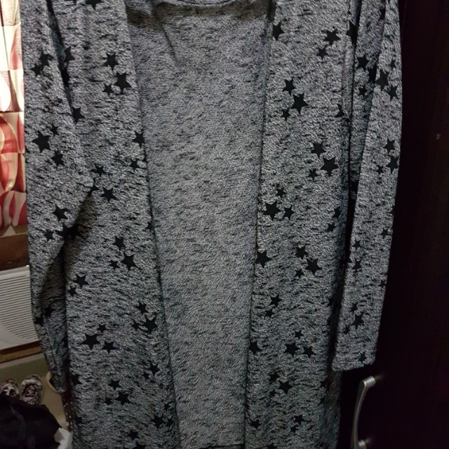 Printed long cardigan