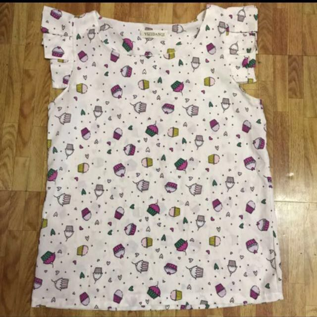 Printed sleeveless