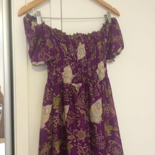 Purple Off The Shoulder Dress Long Dress