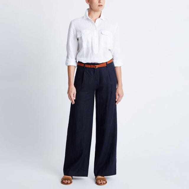 RM WILLIAMS Amby Wide Leg Navy Dress Pants