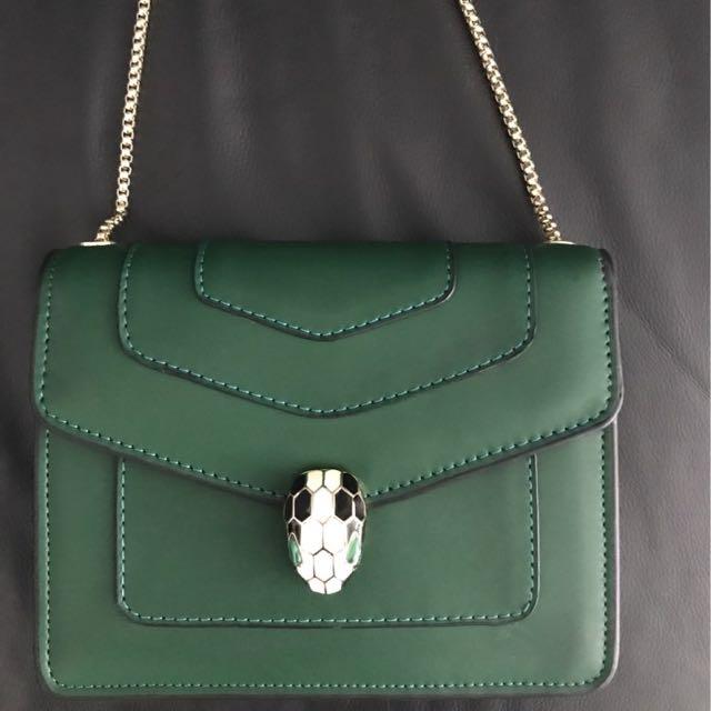 Serpenti Forever Cover Bag - Emerald Green