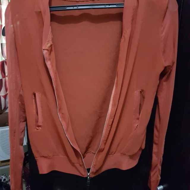 Sheer orange jacket