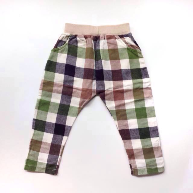 (Size 18M-2.5Y) Boys Checkered Jogger