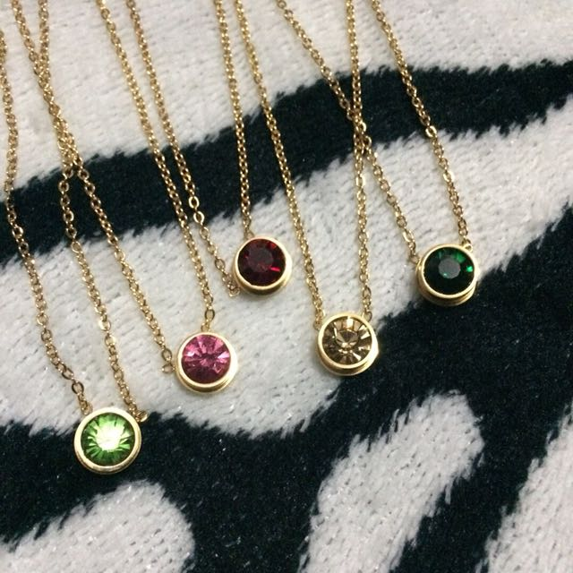 STAINLESS STEEL NECKLACES! Birthstones