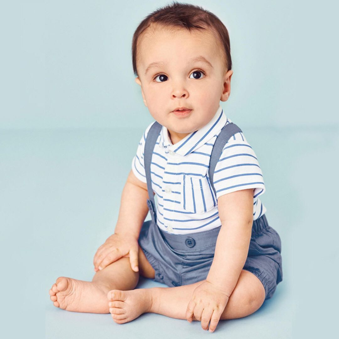 f9d07d4f71 ✔️STOCK - 2pc STRIPE BLUE SUSPENDER PARTY OUTFIT BABY TODDLER BOY CASUAL  SMART ROMPER KIDS CHILDREN CLOTHING