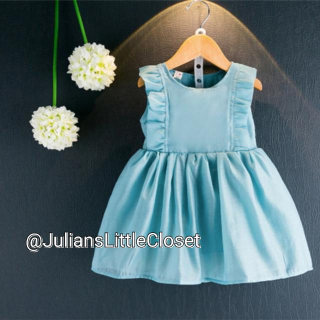 Teal blue Flower Girl Dress