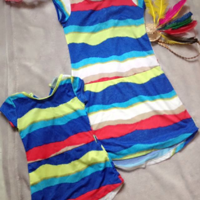 terno dress for sisters 1-2 yrs small 5-7t