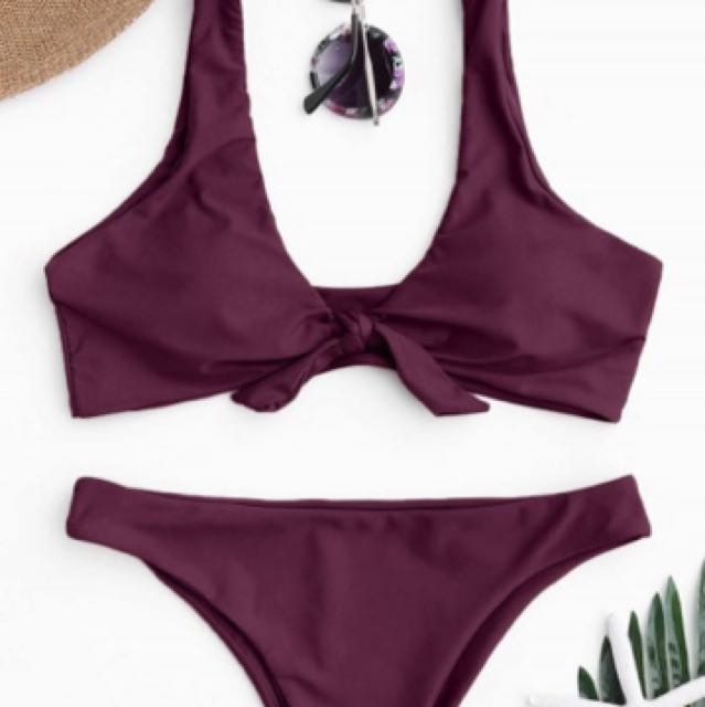 Tie up bikini - Wine