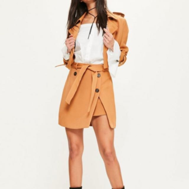 6dba996f81 Trench Belt Skirt In Khaki, Women's Fashion, Clothes, Dresses ...