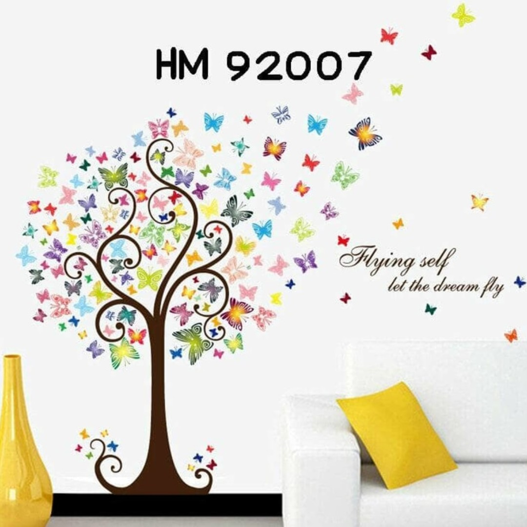 Wall Sticker Uk 60x90 Wall Stiker Dinding Pohon Aneka Kupu