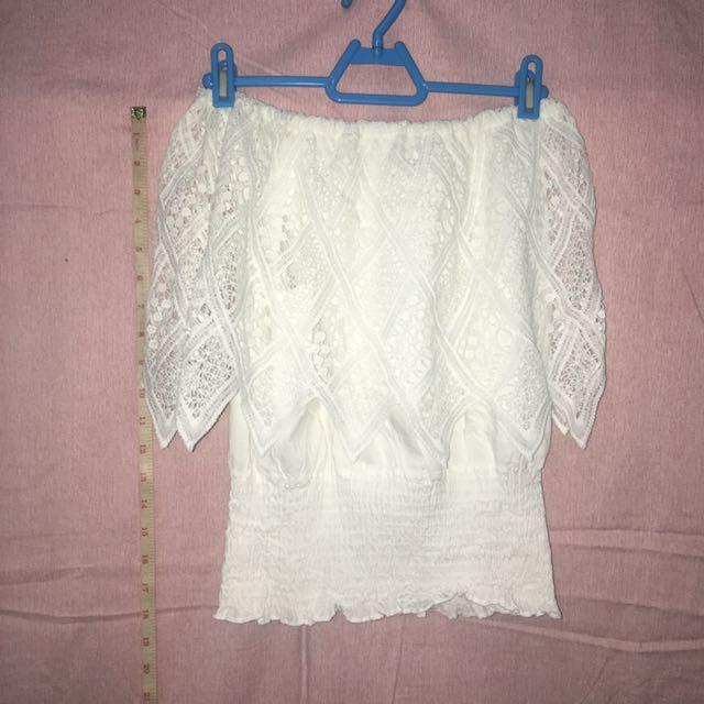 White off shoulder top