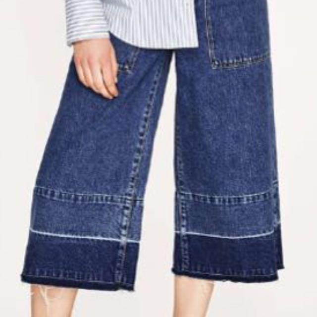 ZARA asia limited edition denim culottes