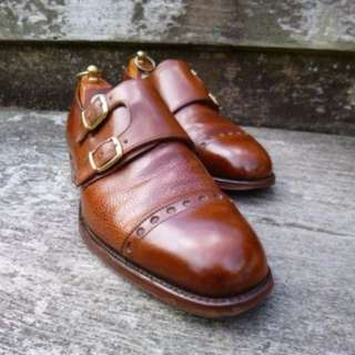 [PRICED TO CLEAR] CHEANEY / CHURCH DOUBLE MONK – BROWN /TAN – UK 7.5 –COLBY- EXCELLENT CONDITION