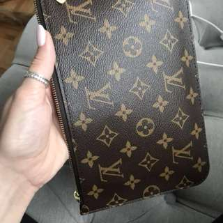 Authentic Louis Vuitton monogram pochette from Neverfull