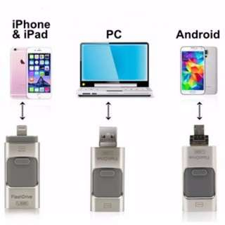 3 in 1 OTG USB Flash Drive for iPhone, iPad, Android & PC 8GB / 16GB / 32GB(B)