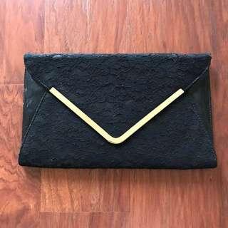 New Look Black Clutch