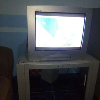 TCL tv and stand