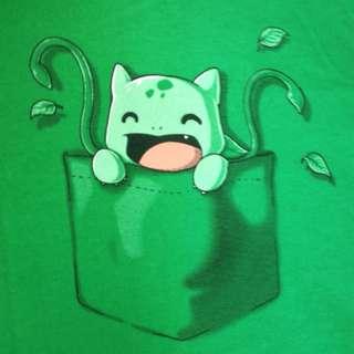 Pokemon (bulbasaur/green) t-shirt