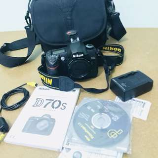 nikon D70s with bag