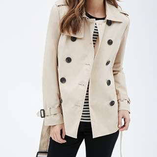 Forever21 Beige Trench Coat