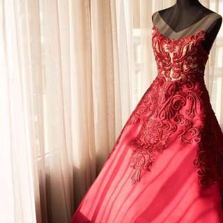 Michael Cinco-inspired Marsala Gown