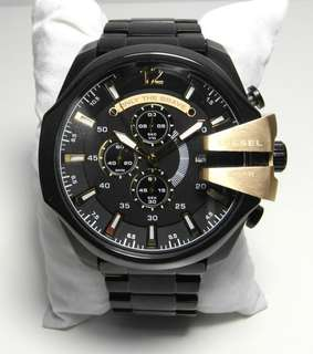 Diesel Mega Chief Black Mens' Dz4338 Black Ion Sports Watch